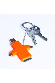 CHARGE & GO MULTI-USE USB PHONE CHARGER WITH KEY CHAIN