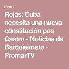 Rojas: Cuba necesita una nueva constitución pos Castro - Noticias de Barquisimeto - PromarTV