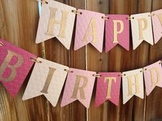 Happy Birthday Banner, Girl Ombre Pink Gold First Happy Birthday Banner, Girl Ombre Pink Gold First Birthday Pink and Gold birthday banner Happy Birthday by LadybugPartyFun - First Birthday Banners, Baby First Birthday, First Birthday Parties, First Birthdays, Diy Happy Birthday Banner, Birthday Messages, Birthday Images, Gold Birthday, Birthday Diy