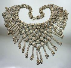 Vintage Necklace Egyptian Revival Silvertone by zephyrvintage, $49.00