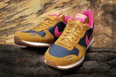 Nike wmns Air Vortex | Gold Suede / Pink Fluo - Dark Armory Blue - Laser  www.asphaltgold.de Olympia, Hockey, Nike, Dark, Sneakers, Gold, How To Wear, Shoes, Fashion