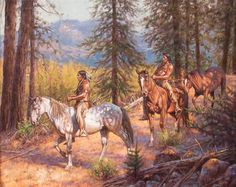 View Shadow Trail By Don Oelze; oil on canvas; Access more artwork lots and estimated & realized auction prices on MutualArt. Native American History, Native American Indians, American Spirit, Indian Paintings, Western Art, Oil On Canvas, Westerns, Character Design, Horses
