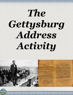 use of antithesis in the gettysburg address Though the gettysburg address is already commonly and quite deservedly held in high regard, the analysis of its rhetorical proofs will only speak further to its importance although the situation was itself emotional, lincoln.