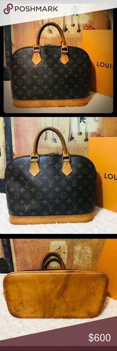 AUTH Louis Vuitton Alma Date Code  FL0053 Made in France in May 2003 Good  used daa51c9236bf8