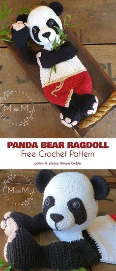Adorable Ragdolls Free Crochet Patterns (Your Crochet) Crochet Panda, Crochet Lovey, Crochet Granny Square Afghan, Crochet Mask, Crochet For Kids, Crochet Animals, Crochet Dolls, Free Crochet, Crochet Birds