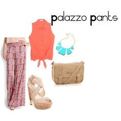 """Palazzo Pants"" by paopv on Polyvore"