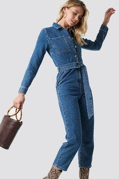 Jumpsuit Outfit, Jeans Jumpsuit, Hijab Outfit, Denim Outfit, Jeans Dress, Fashion 101, Hijab Fashion, Denim Overall, Hijab Stile