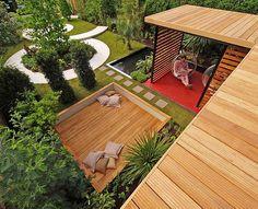 Modern garden by DIARMUID GAVIN Designs