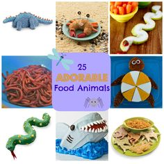 25 Adorable Food Animals - great for lunchbox ideas!