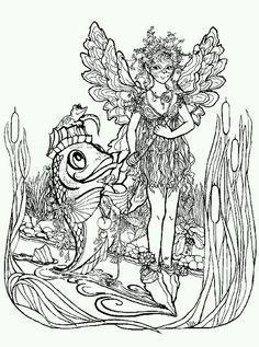 Phee McFaddell Artist cute free coloring page