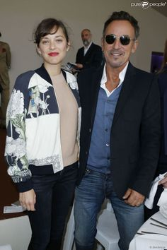 Bruce Springsteen with actress Marion Cotillard.