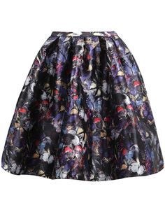 Shop Black Floral Butterfly Print Skirt online. Sheinside offers Black Floral Butterfly Print Skirt & more to fit your fashionable needs. Free Shipping Worldwide!