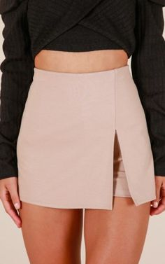 Mellow Out Skort In Taupe Produced Trendy Outfits, Fall Outfits, Summer Outfits, Cute Outfits, Women's Mini Skirts, Cute Skirts, Cute Fashion, Teen Fashion, Fashion Outfits