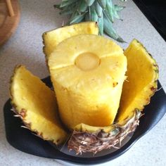The Pampered Chef Pineapple Wedger cleanly cores while the outer round blade removes skin.  $19.00