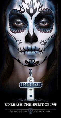 creepy dia de los muertos makeup - Google Search