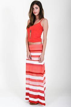Goddis – Carly Maxi Skirt In Spanish Red