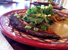 Quinoa Mexican Pizza (red pepper sauce)