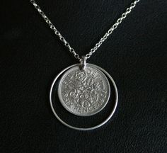 Sixpence necklace. Birthday necklace. Birth year by DearSusan