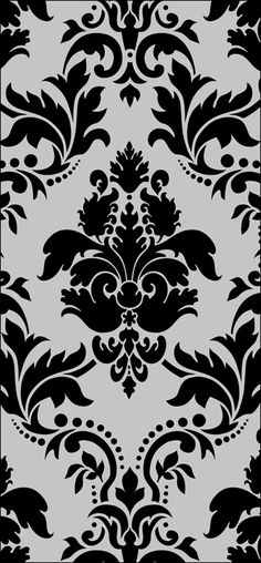 "Stencil design: HG1 - Large Damask Size: 42.8 x 28.4"" (1087 x 721mm) Price: €66.27"