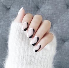 It's all about textures. Look around your salon for different colours and textures that you can use in your nail pics. A cool grey textured couch is the perfect background with this fuzzy white sweater.
