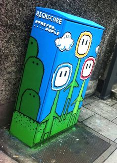 Irish Street Art - Dublin Traffic Light Box Artwork