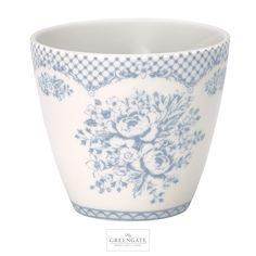 GreenGate latte cup Stephanie dusty blue AW16