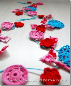 Gorgeous crochet bunting