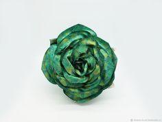 """Купить Кожаная женская сумка роза коллекция """"Barocco"""" - зеленый, подарок на день рождения"""