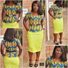 Kmart long dresses using ankara African Inspired Fashion, African Print Fashion, African Fashion Dresses, Fashion Outfits, African Attire, African Wear, African Dress, African Tops, African Women