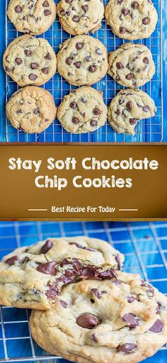 Stay Soft Chocolate Chip Cookies Ingredients 1 cup sticks, 227 grams) unsalted butter , at room temperature cup g. Best Dessert Recipes, Fun Desserts, Cookie Recipes, Delicious Desserts, Easy Recipes, Quick Dessert, Dessert Ideas, Bread Recipes, Cake Ideas