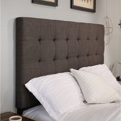 Deck out your restful retreat with the Manhattan Headboard. Thoughtfully crafted in polyester, this classic headboard design will stand the test of time. The subtle box stitch design of this headboard creates a stylish backdrop that works well with a variety of bedding styles and lets your decorator style flourish.