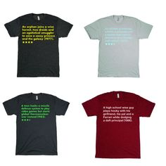 Movie review T-shirts