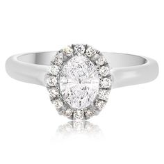 Platinum Mia Collection Halo Style Prong-Set Engagement Setting | Washington Diamond | Falls Church, VA