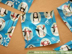 Image titled Make a 3D Paper Snowflake Step 4