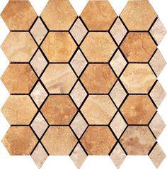 "#Interceramic - Travertino Royal Random Mosaic 16"" x 16"""