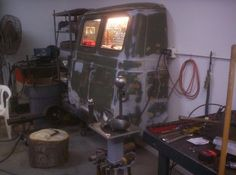 Storage Cabinet from Van Rear by maddog -- Homemade storage cabinet constructed from a surplus van rear section. http://www.homemadetools.net/homemade-storage-cabinet-from-van-rear