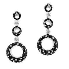 Black and White Diamond Earrings by MondiJewelry on Etsy, $1245.00