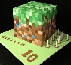minecraft birthday cake | Minecraft birthday cakes
