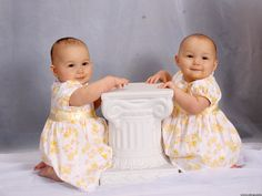 cute baby girls twins..