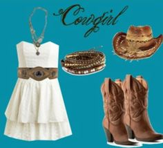 Cowgirl❤ I don't usually do dresses but this one is cute