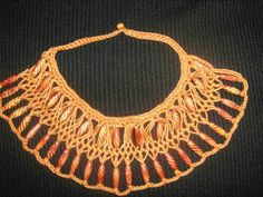 Hairpin necklace w/beads