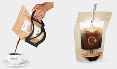 The COFFEEBREWER by GROWER'S CUP is a take-away coffee pack that doubles as a French Press.