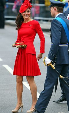 Kate Middleton in Alexander McQueen the day of the Queen's Jubilee.