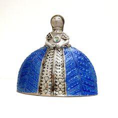 Ceramic SculptureVelázquez Style Dress   Blue by BlueMagpieDesign