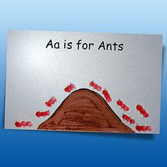 Little Ants Finger Art: An Activity for Preschoolers. Creating little ants provides a fun sensory activity to help children grasp the first letter of the alphabet!