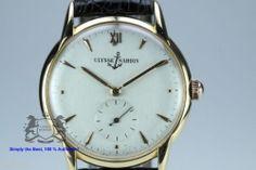ULYSSE NARDIN 18 Karat Gold Watch Ultra Flat Manual-wind Caliber (532)