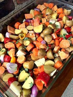 Easy Oven Roasted Vegetables...great seasoning ideas