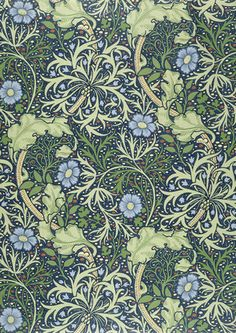 Seaweed wallpaper, by William Morris (1834-96), England, late 19th c