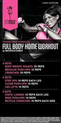 Full Body Home Workout #FitMiss