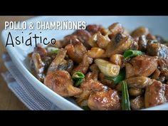 Pollo con champiñones en salsa de ostras | Kwan Homsai
